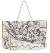 1780 Raynal And Bonne Map Of The East Indies Singapore Java Sumatra Borneo Weekender Tote Bag