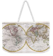 1780 Raynal And Bonne Map Of The Two Hemispheres Weekender Tote Bag