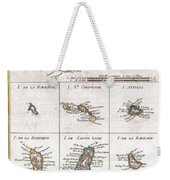 1780 Raynal And Bonne Map Of The Virgin Islands And Antilles West Indies Weekender Tote Bag