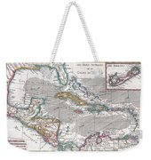 1780 Raynal And Bonne Map Of The West Indies Caribbean And Gulf Of Mexico Weekender Tote Bag
