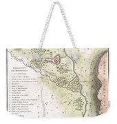 1783 Bocage Map Of The Topography Of Sparta Ancient Greece And Environs Weekender Tote Bag