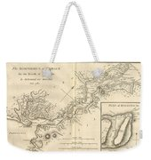 1784 Bocage Map Of The Bosphorus And The City Of Byzantium  Istanbul  Constantinople Weekender Tote Bag