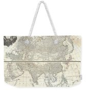1784 D Anville Wall Map Of Asia Weekender Tote Bag