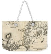 1785 Bocage Map Of Athens And Environs Including Piraeus In Ancient Greece Weekender Tote Bag