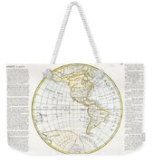 1785 Clouet Map Of North America And South America Weekender Tote Bag