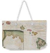 1785 Cook  Bligh Map Of Hawaii  Weekender Tote Bag