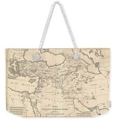 1787 Bonne Map Of The Dispersal Of The Sons Of Noah Weekender Tote Bag