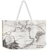 1798 Cassini Map Of Alaska And The Bering Strait Weekender Tote Bag