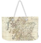 1799 Clement Cruttwell Map Of Scotland Weekender Tote Bag