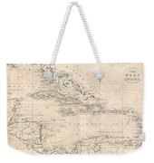 1799 Clement Cruttwell Map Of West Indies Weekender Tote Bag