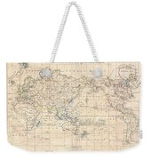1799 Cruttwell Map Of The World On Mercators Projection Weekender Tote Bag
