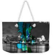 Sacramento Map And Skyline Watercolor Weekender Tote Bag