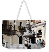 Another View Of An Old Unused Fountain In Taormina Sicily Weekender Tote Bag