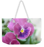 Viola Tricolor Heartsease Weekender Tote Bag