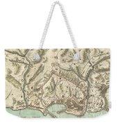 1800 Bardi Map Of Genoa Genova Italy  Weekender Tote Bag