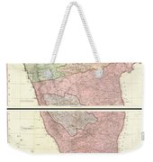 1800 Faden Rennell Wall Map Of India Weekender Tote Bag