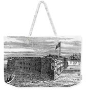 1800s 1860s View Of Fort Taylor Key Weekender Tote Bag