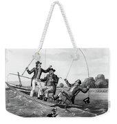 1800s Three 19th Century Men In Boat Weekender Tote Bag