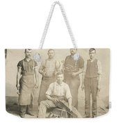 1800's Vintage Photo Of Blacksmiths Weekender Tote Bag