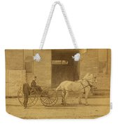 1800's Vintage Photo Of Horse Drawn Carriage Weekender Tote Bag