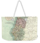 1801 Cary Map Of Portugal Weekender Tote Bag