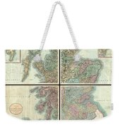1801 Cary Map Of Scotland  Weekender Tote Bag