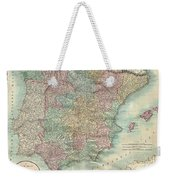 1801 Cary Map Of Spain And Portugal Weekender Tote Bag