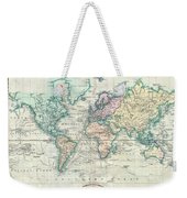 1801 Cary Map Of The World On Mercator Projection Weekender Tote Bag