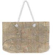 1802 Chez Jean Map Of Paris In 12 Municipalities France Weekender Tote Bag