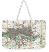 1806 Mogg Pocket Or Case Map Of London Weekender Tote Bag