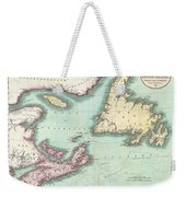 1807 Cary Map Of Nova Scotia And Newfoundland Weekender Tote Bag