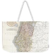 1811 Cary Map Of The Kingdom Of Portugal Weekender Tote Bag