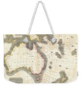 1814 Thomson Map Of Australia New Zealand And New Guinea Weekender Tote Bag