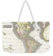 1814 Thomson Map Of North And South America Weekender Tote Bag