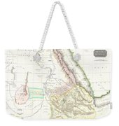 1818 Pinkerton Map Of Abyssinia  Ethiopia  Sudan And Nubia Weekender Tote Bag