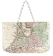 1818 Pinkerton Map Of Holland Or The Netherlands Weekender Tote Bag