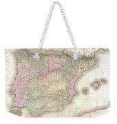1818 Pinkerton Map Of Spain And Portugal Weekender Tote Bag