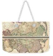 1820 Lizars Wall Map Of Asia Weekender Tote Bag