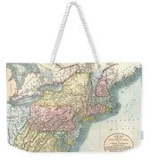 1821 Cary Map Of New England New York Pennsylvania And Virginia Weekender Tote Bag
