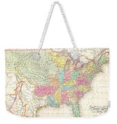 1823 Melish Map Of The United States Of America Weekender Tote Bag