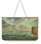 1825 Wall And Hill View Of New York City From The Hudson River Port Folio Weekender Tote Bag