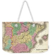1827 Finely Map Of Spain And Portugal Weekender Tote Bag