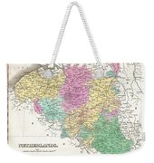 1827 Finley Map Of Belgium And Luxembourg Weekender Tote Bag
