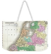 1827 Finley Map Of Holland Or The Netherlands Weekender Tote Bag