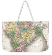 1827 Finley Map Of India  Weekender Tote Bag