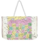 1827 Finley Map Of Indiana Weekender Tote Bag