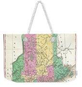 1827 Finley Map Of Maine Weekender Tote Bag