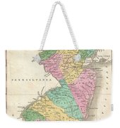 1827 Finley Map Of New Jersey  Weekender Tote Bag