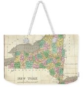 1827 Finley Map Of New York State Weekender Tote Bag