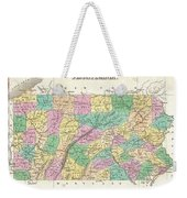 1827 Finley Map Of Pennsylvania Weekender Tote Bag